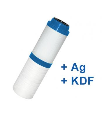 """Kombi Silver víztisztító szűrőbetét (PP+GAC+Ezüst+KDF) 10"""""""