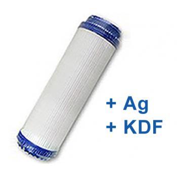 """GAC Silver aktívszén szűrőbetét (+Ezüst+KDF) 10"""""""