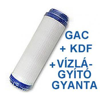 """GAC aktívszén+KDF+gyanta szűrőbetét 10"""""""
