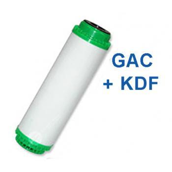 """GAC aktívszén+KDF szűrőbetét 10"""""""